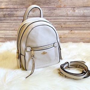 Coach Chalk Pebbled Leather Andi Backpack